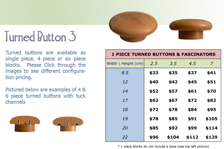 Turned Button 3 1